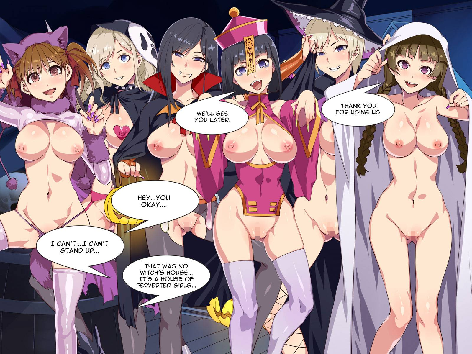 reading halloween night bicchi (original) hentaimizuryu kei